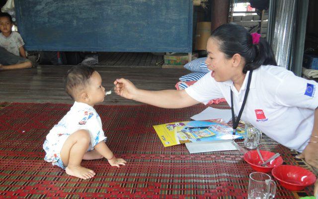 Sensibilisation à domicile au Cambodge ©Gret
