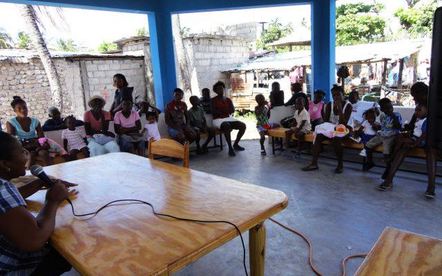 Sensibilisation en Haïti ©Gret