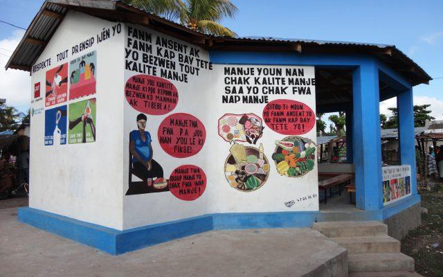 Messages de sensibilisation sur les murs en Haïti, ©Gret