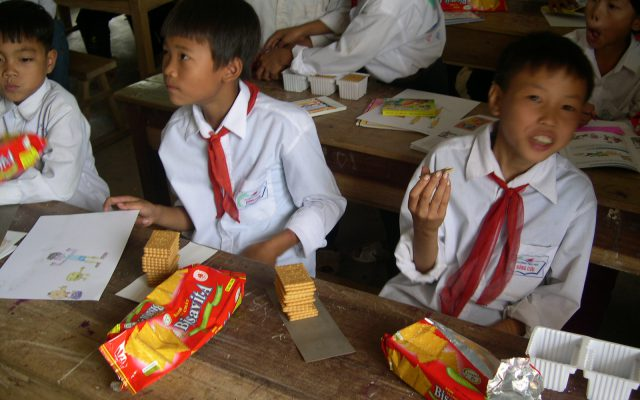 Awareness-raising at school, Vietnam ©Gret